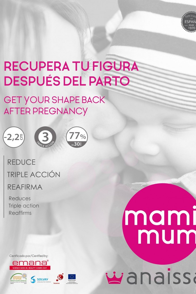 MAMIMUM- Leggings post pregnancy. Smart Textile Triple Action 200 den with Emana® Fiber, slimming in 30 days