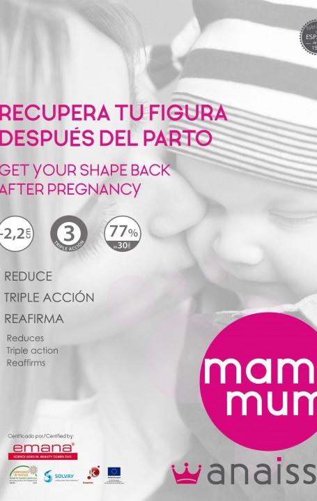 MAMIMUM-Cinturón adelgazante para después del parto - Fibra Emana® con triple acción, adelgaza en 30 días