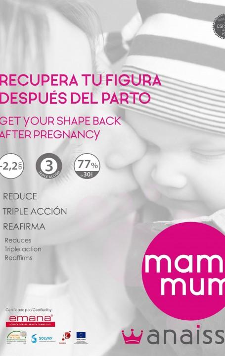 MAMIMUM- Conjunto post parto. Pirata más cinturón  con fibra  Emana®. Fabricado en España.