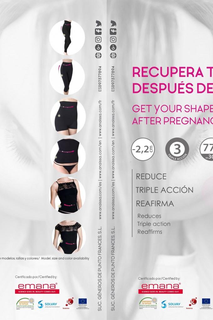 Short faja Posparto cosmético textil con fibra Emana®
