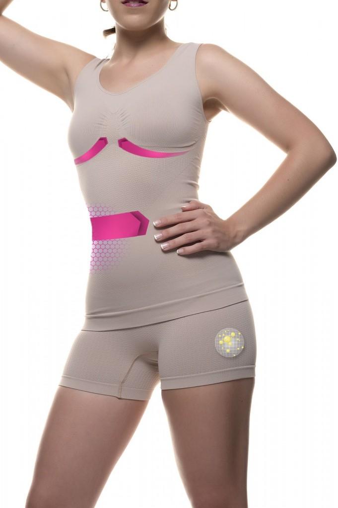 Camiseta- shorty con Micro-masaje y fibra Emana