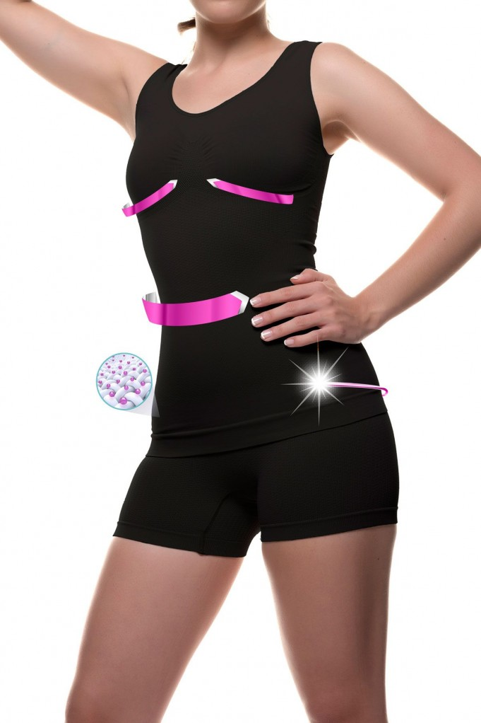 T-shirt and shorty with Micro-massage and Emana® fiber FRANCHESCA