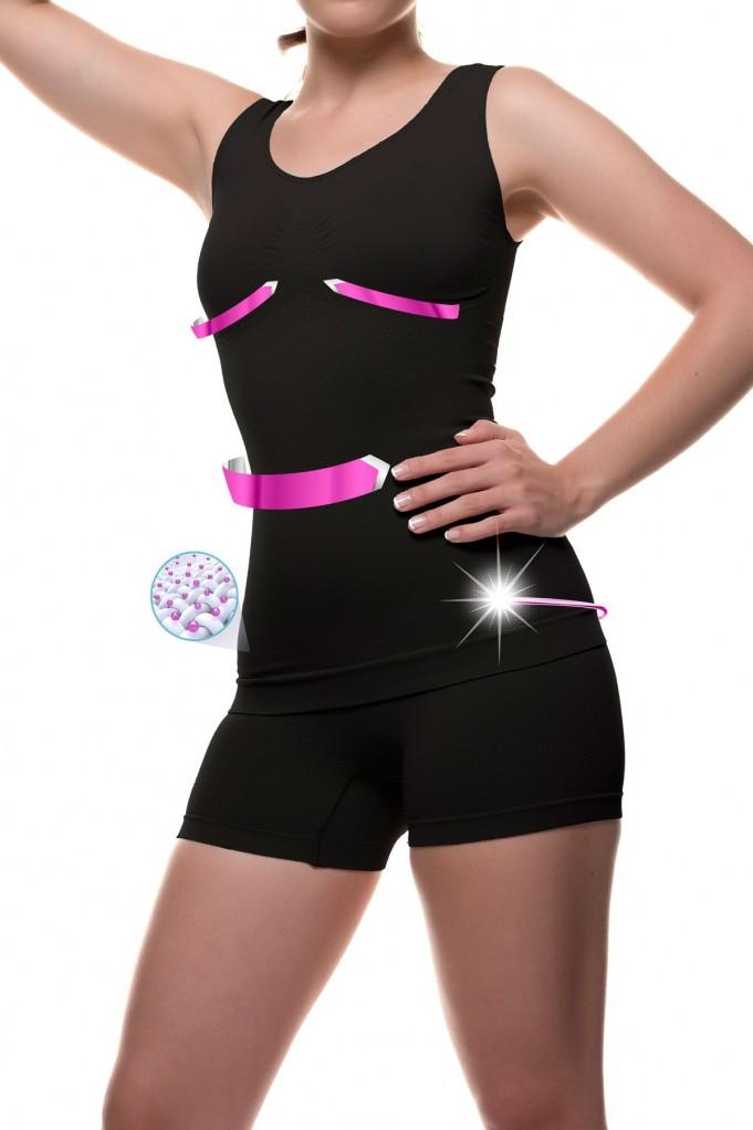 Camiseta y shorty con Micro-masaje y fibra Emana® FRANCHESCA